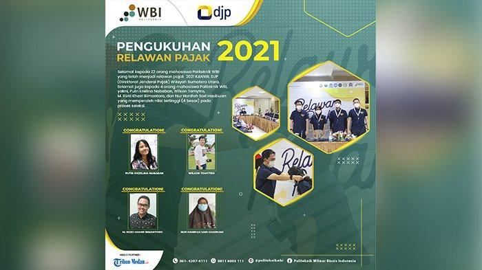 Mahasiswa Politeknik WBI Medan Raih Peringkat I Skor Tertinggi Seleksi Relawan Pajak Wilayah 1 SUMUT
