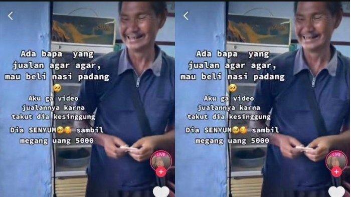Viral Sosok Penjual Agar-agar Beli Nasi Padang Rp 5 Ribu, Ternyata Untuk Istri Hamil Tua 6 Bulan