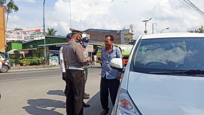 Kendaraan dari Luar Kota Diperiksa di Medan Tuntungan