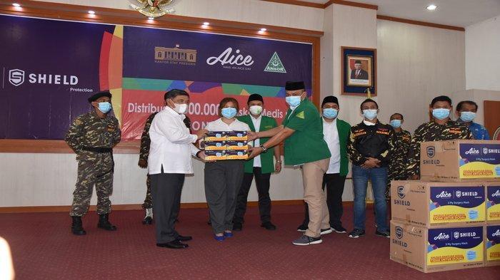 GP Ansor dan Aice Group Berikan Bantuan Masker, Wabup Deli Serdang Ucapkan Terima Kasih