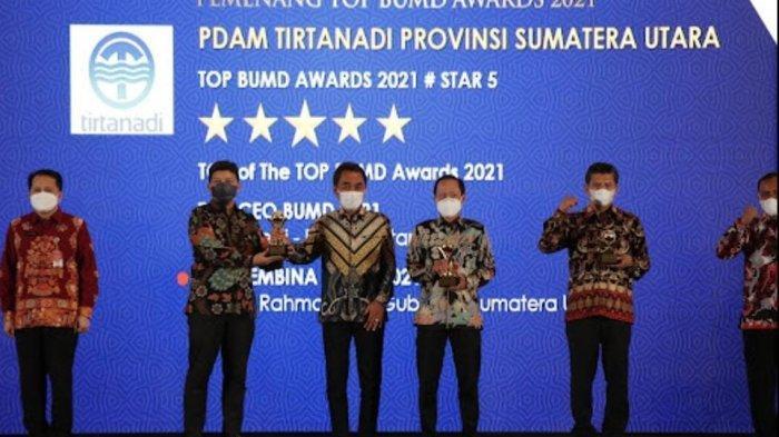 Sukses Membawa PDAM Tirtanadi Raih Penghargaan, Gubsu & Dirut PDAM Tirtanadi Sabet Penghargaan Lagi