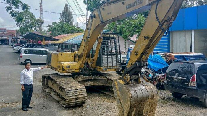 Gerebek Tambang Galian C Ilegal di Tanah Pinem Dairi, Polisi Amankan Tiga Pelaku dan Alat Berat