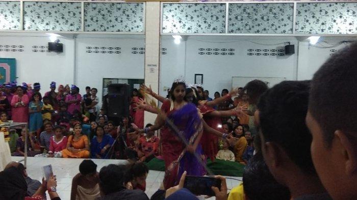 Pertunjukan Reog, Barongsai dan Tarian Klasik India Meriahkan Perayaan Navaratri di Medan