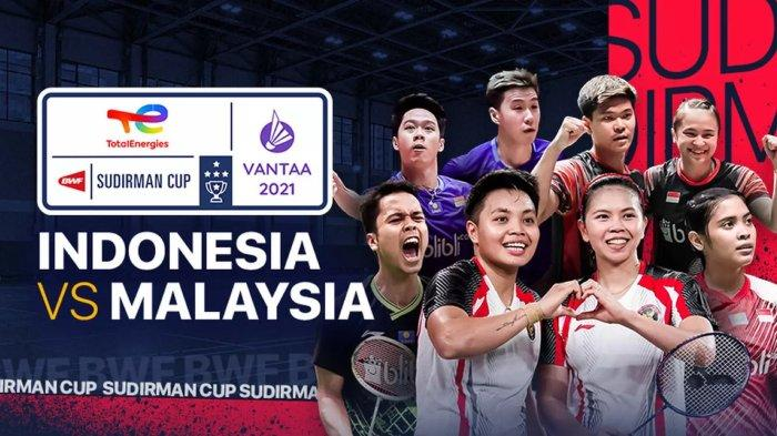 LIVE STREAMING Piala Sudirman: Link Live Streaming Indonesia vs Malaysia Bertanding Malam Ini| LIVE