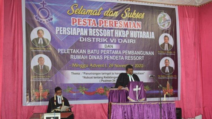 Praeses HKBP Distrik VI Dairi Resmikan Persiapan Ressort HKBP Hutaraja