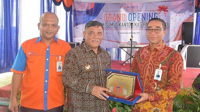 Wakil Bupati HMA Yusuf Siregar Hadiri Peresmian Kantor Kas Bank Sumut di Pantai Labu