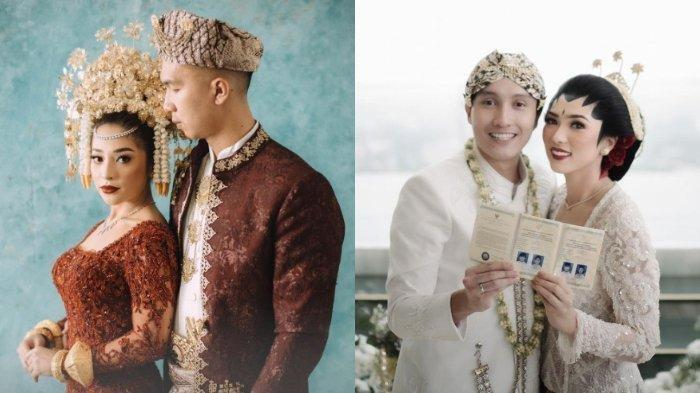 Pernikahan Nikita Willy - Indra Priawan dan Isyana Sarasvati - Rayhan Maditra. (Kolase TribunStyle (Instagram @thebridestory @isyanasarasvati))