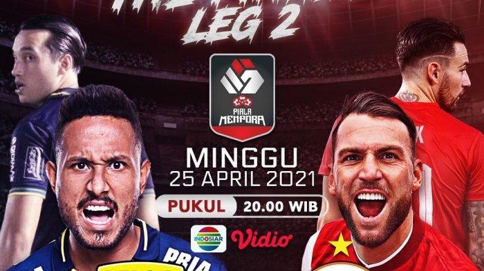 LINK NONTON Live Streaming Persib Vs Persija, Final Piala Menpora 2021 Leg Kedua Jam 20.30 WIB