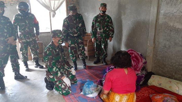 Rayakan Ultah Kodam I/BB, Kodim 0206/Dairi Bagi-bagi Sembako untuk Warga Miskin