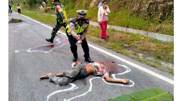 Mayat Pria Tanpa Identitas Ditemukan Tergeletak di Tengah Jalan Jalur Lintas Tarutung-Sibolga
