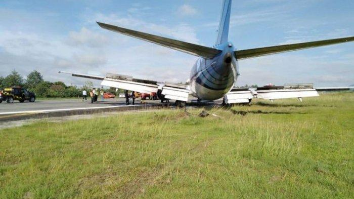 Pesawat Trigana Tergelincir di Bandara Halim Perdana Kusuma, Mendarat Keluar Runway
