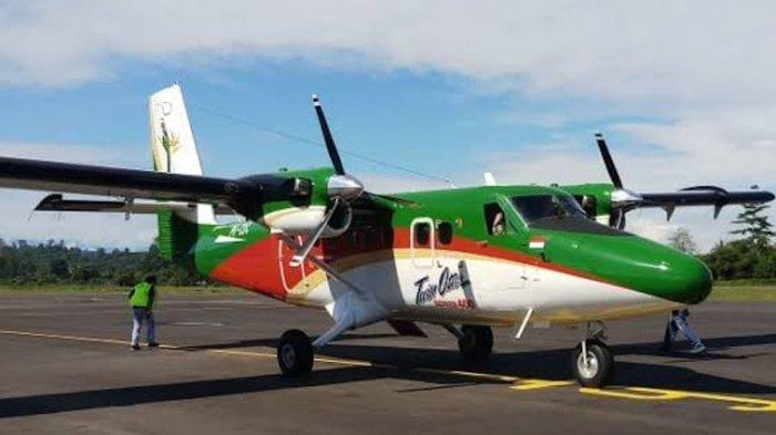 Pesawat DHC-6 Twin Otter milik Rimbun Air yang hilang kontak