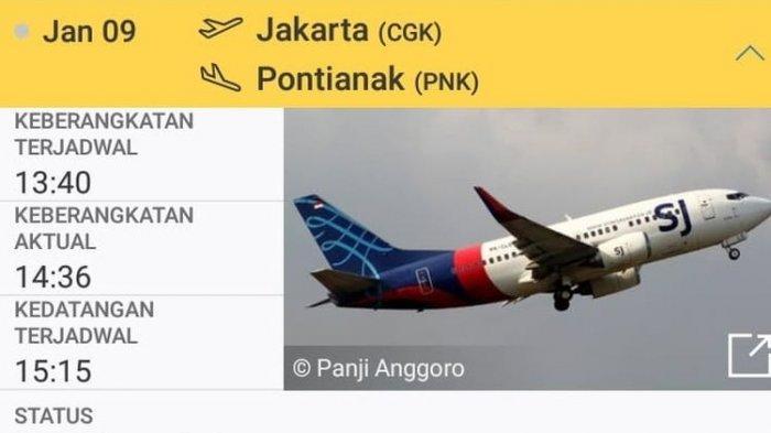 PESAWAT Sriwijaya Rute Jakarta Pontianak Dilaporkan Hilang ...