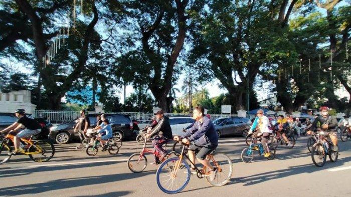 Selama Pandemi Covid-19, Aktivitas Bersepeda Semakin Ramai di Pusat Kota Medan
