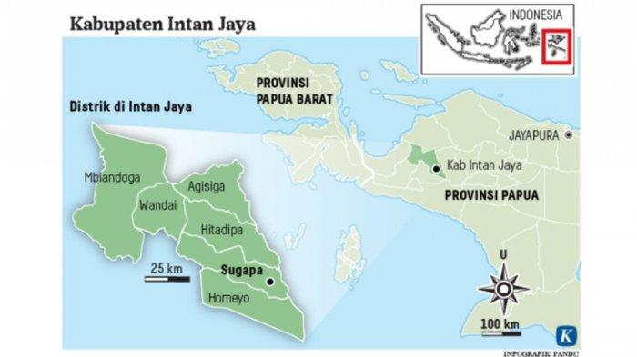Peta Kabupaten Intan Jaya