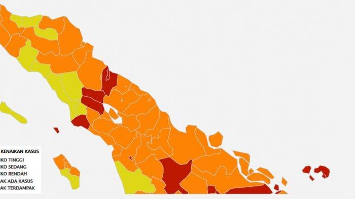 TERBARU 5 Kab/Kota di Sumut Kini Berstatus Zona Merah, Berikut Daftar Lengkapnya Se-Indonesia