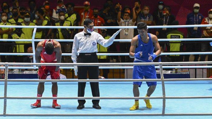 Sarohatua Lumbantobing, Atlet Tinju Sumut Raih Medali Emas di PON Papua 2021