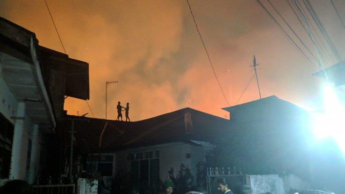 Pemukiman yang Terbakar di Jalan S Parman Medan Diperkirakan 40 Rumah, Ini Dugaan Penyebabnya