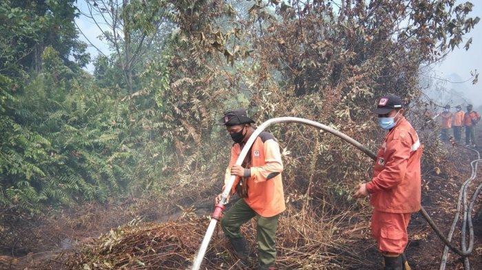 Manggala Agni Sibolangit Alami Kesulitan Padamkan Karhutla di Aceh Selatan