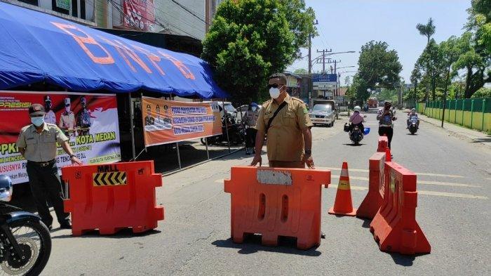 Penyekatan Jalan di Kota Medan Diperpanjang Sampai Bulan Depan, Warga Diminta Bersabar
