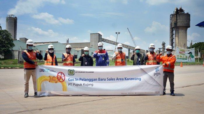Dukung Ketahanan Pangan, PGN Salurkan Gas ke PT Pupuk Kujang Cikampek