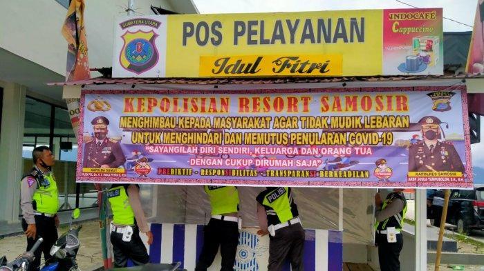 Polres Samosir Turunkan 100 Personil di 6 Titik Penyekatan Larangan Mudik