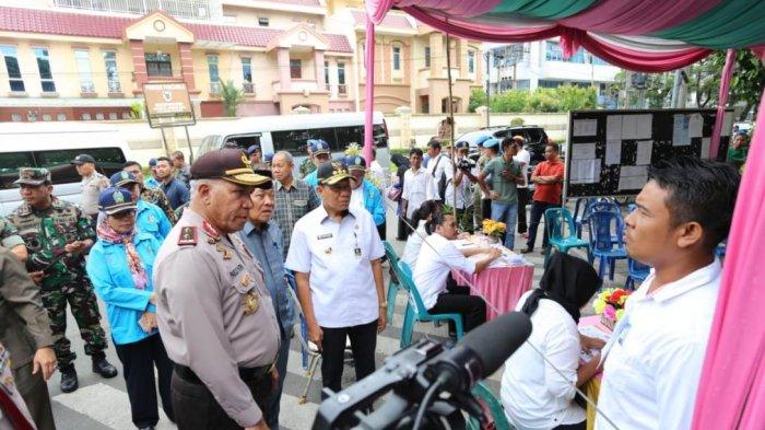 Hari Pencoblosan, Kapolda Tinjau TPS di Kota Medan, Binjai dan Deliserdang