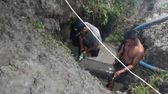 Pipa PDAM Pecah di Sungai Ular, Warga Bisa Kesulitan Air Sampai Empat Hari