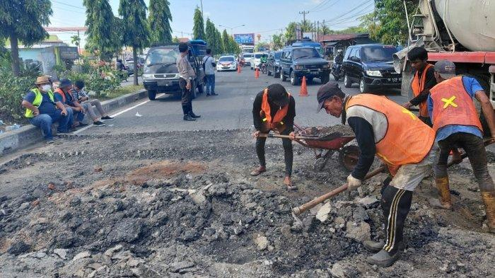 Dirut Tirta Deli Marah-marah, Pipa Pecah di Jalan Lintas Medan-Lubukpakam Akhirnya Diperbaiki