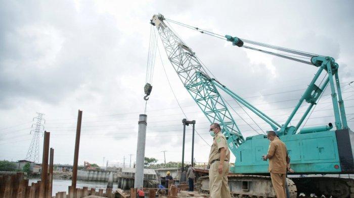 Tinjau Pembangunan Jembatan Titi Dua, Akhyar Pesan Pembuatan Abutment Harus Kuat