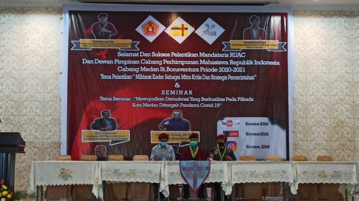 Lanjutkan Roda Organisasi, PMKRI Cabang Medan Lantik Pengurus Periode 2020-2021
