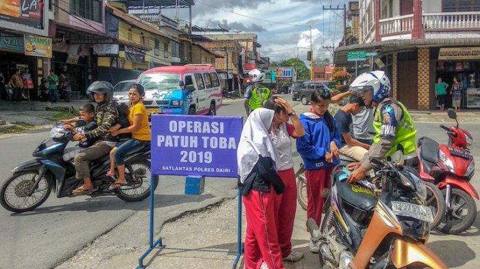 Operasi Patuh Toba Polres Dairi Jaring Ratusan Pelanggar Lalu Lintas, Mayoritas Pengendara Motor