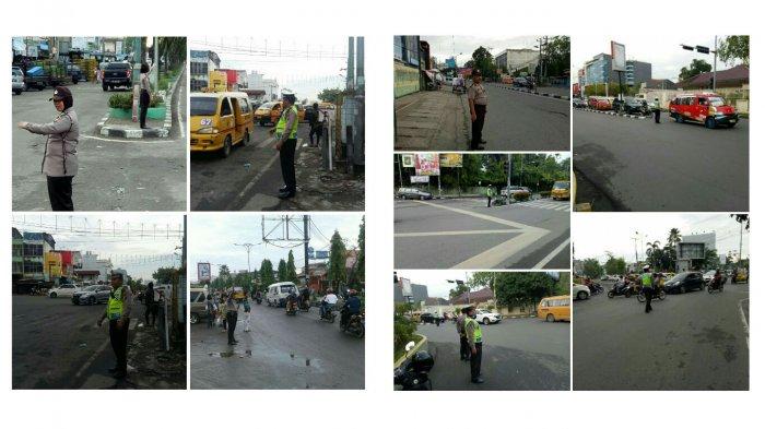 Pengaturan Arus Lalu Lintas, Personel Polisi Standby di Jalan