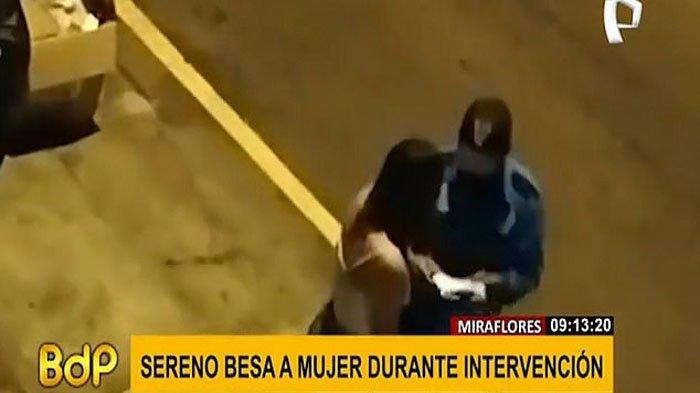 Polisi tertangkap mencium wanita pelanggar aturan jam malam, alih-alih mendendanya (Buenos Dias Peru)