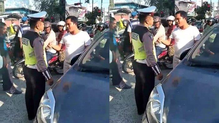 Viral, Adu Argumen Polantas dan Pengendara di Jalan Raya, Tonton Videonya