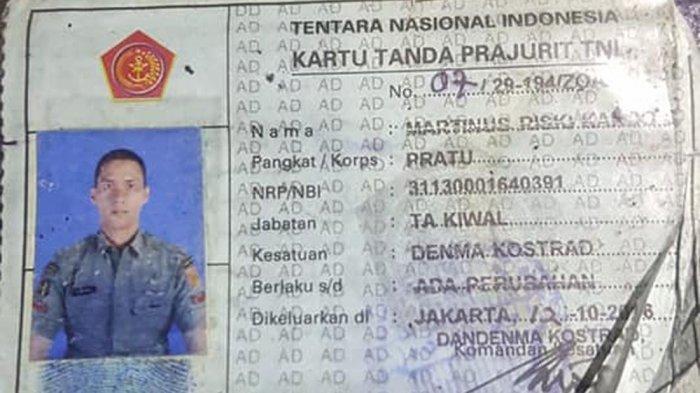KTA anggota TNI Pratu MRS yang tewas ditembak anggota Polsek Kalideres