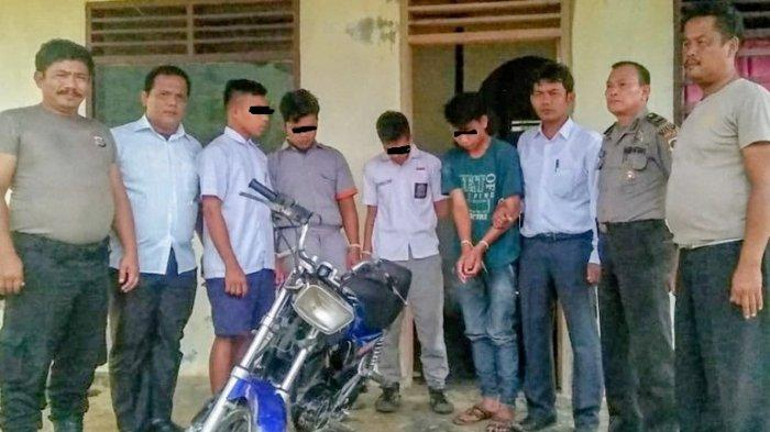 Empat Pelajar Pelaku Curanmor Dibekuk usai Kedapatan Bawa Motor Hasil Curian ke Sekolah