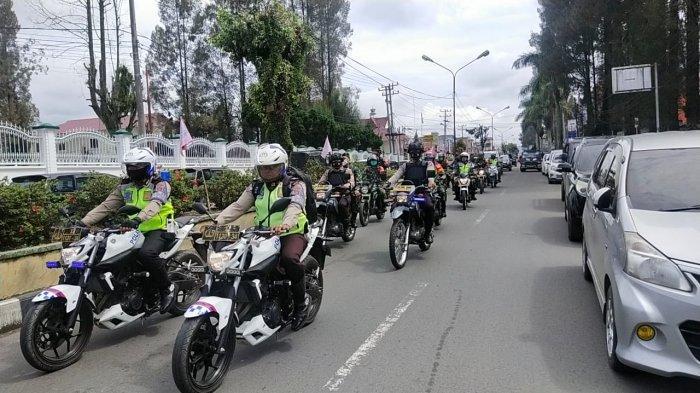 Jelang Pilkada, Polres Tanah Karo dan Kodim 0205/TK Lakukan Patroli Skala Besar