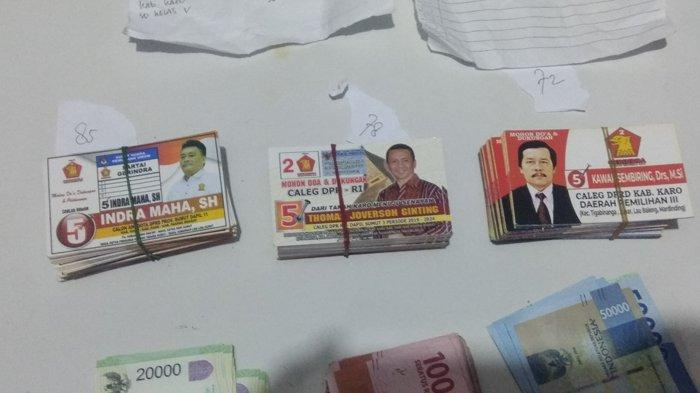 Polres Karo Tangkap Dua Caleg Partai Gerindra Pelaku Money Politics dan Amankan Uang Ratusan Juta