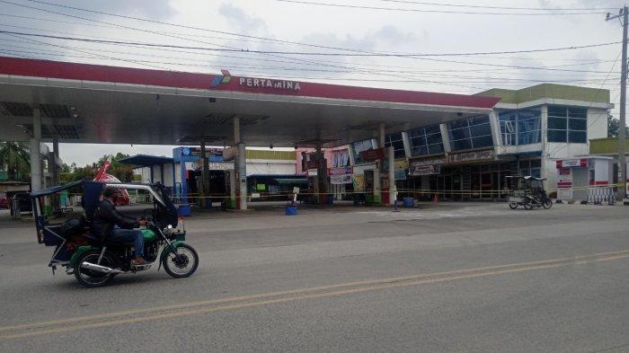 Polresta Deliserdang Masih Pasang Garis Polisi di SPBU Lubukpakam yang Jual BBM Curang