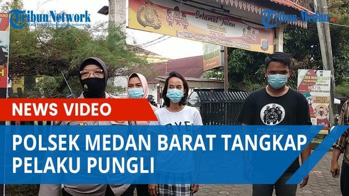 Gerak Cepat, Polsek Medan Barat Tangkap Pelaku Pungli Terhadap Emak-emak, Roni Loyo di Kantor Polisi