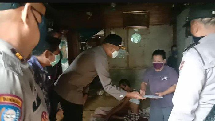 Bantuan Kapolda Sumut untuk Keluarga Untung Bintang Diserahkan Kapolsek Percut Seituan