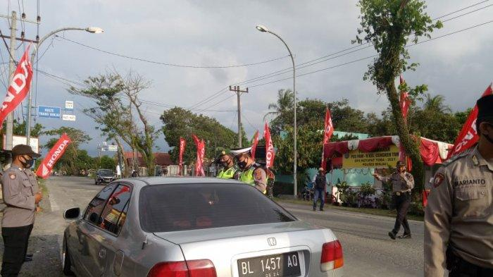 Sembilan Mobil dari Aceh Dipaksa Putar Balik di Pos Penyekatan Kota Binjai