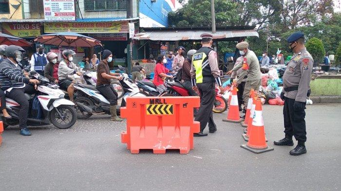 Penyekatan di Simpang Tiga Pekan Perbaungan, Ratusan Kendaraan Diputar Balik