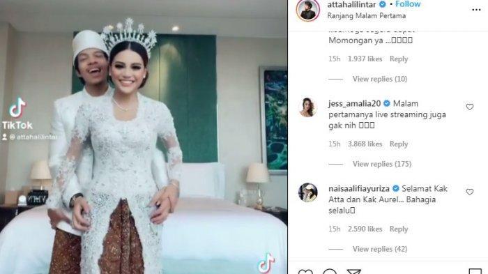 Postingan pertama Atta Halilintar selepas resmi menikah dengan Aurel. (Instagram.com/@attahalilintar)