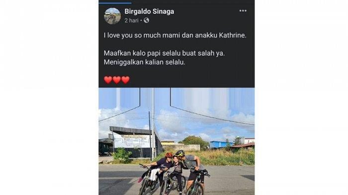 Postingan terakhir Birgaldo Sinaga sebelum meninggal