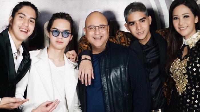 Potret kedekatan Irwan Mussry dengan Al, El, Dul, lengkap dengan Maia Estianty