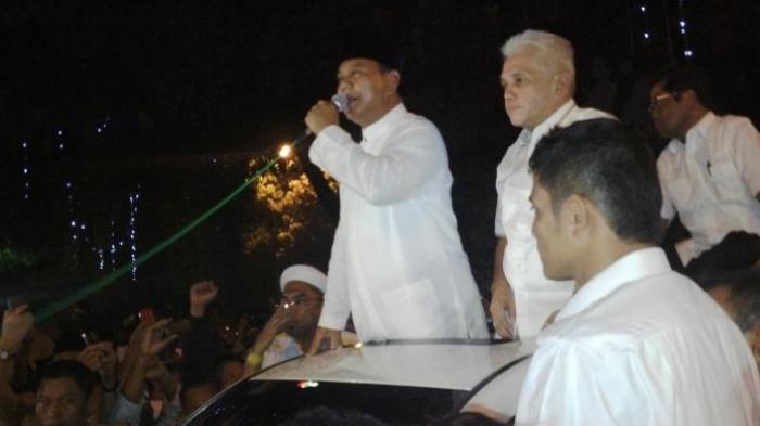 Prabowo Kembali Berpidato di Atas Mobil Sebelum Daftar Gugatan ke MK