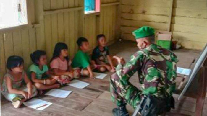 Di Masa Pandemi Covid-19, Tugas Prajurit TNI Bukan Hanya Menjaga Perbatasan RI, Tetapi Ikut Mendidik