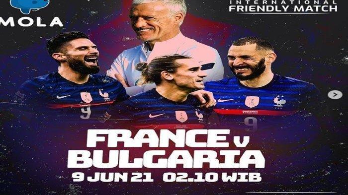 Live Streaming Prancis vs Bulgaria, Ujian Terakhir Les Bleus Sebelum Bertempur di Grup Neraka